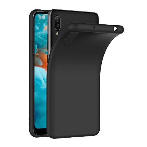 COPHONE Funda Negro Huawei Y6 2019 , Negro Silicona Fundas para Huawei Y6 2019 Carcasa Negro Funda Case Y6 2019 Flexible Ultra Delgado