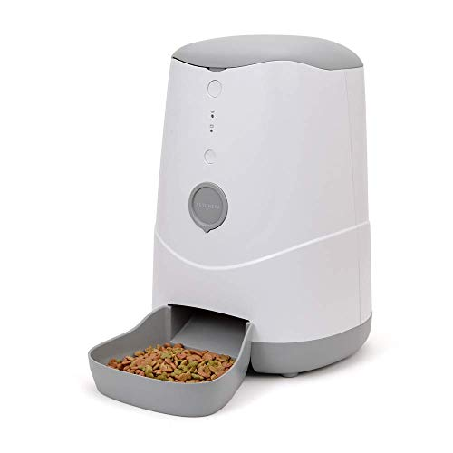 YQSHYP Petoneer Nutri Smart Automatic Pet Feeder, for Cats and Dogs with Smartphone and Alexa Control,Dry or Semi-Moist Puppy Kitten Bunny Food Dispenser