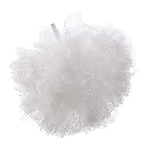 FLAMEER Tüll Pompom Deko Anhänger für Hochzeit, Geburtstag, Party, Kinderzimmer, Baldachin, usw. - Weiß