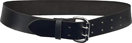 JOB 2-Dorn Ledergürtel/Leder-Gürtel schwarz für Zunftkleidung/Dachdecker/Zimmerer (80)