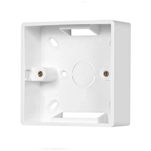 Aufputz-Rahmen Für Anschlussdose 86 Typ Faceplate Single Socket 86 x 86 x 34mm Weiß Aufputzdose