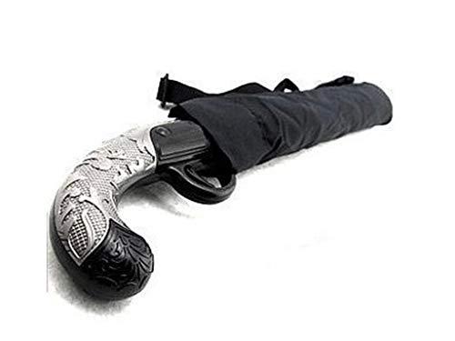 Paraguas al aire libre, paraguas de pistola, resistente a los rayos UV y al agua, paraguas portátil de viaje, con apertura y cierre, para fiestas, picnic o jardín