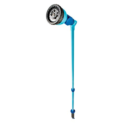 Aqua Joe AJ-WW10-T59 Telescoping 10-Pattern Metal Watering Wand, w/180-Degree Angle Adjustable Head