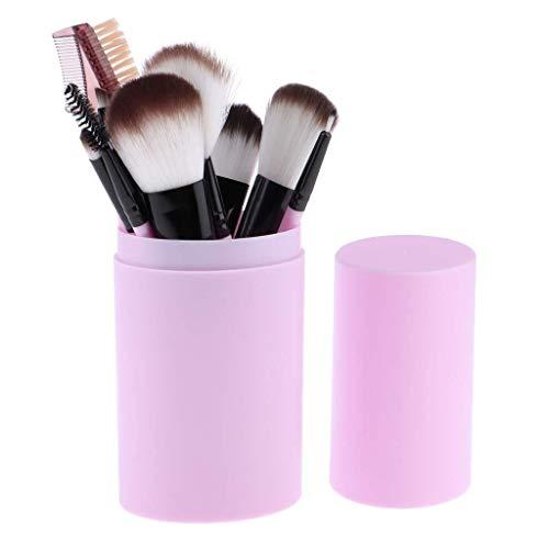 JINHUA Makeup Brush Sets - 12 Pcs Makeup Brushes for Foundation Eyeshadow Eyebrow Eyeliner Blush Powder Concealer Contour Cosmetic Tools (Color : Purple)