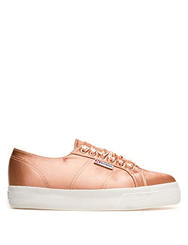 Superga Women's 2730-Satinw Sneakers In Gold in Size 36
