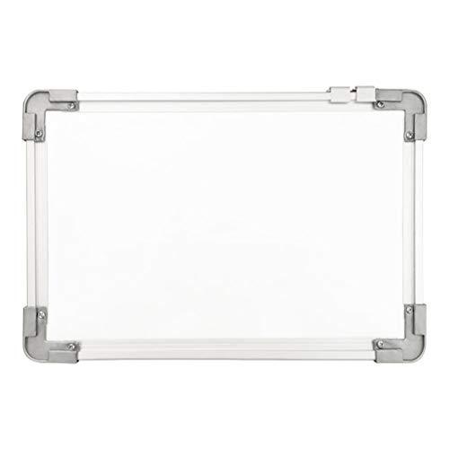 STOBOK Doppelseitige Magnetische Whiteboard Drywipe Hängende Nachricht Schreibbrett Staffelei für Home School Office 20X30cm (Weiß)