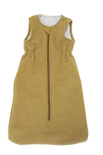Disana Walk-Schlafsack ohne Arm 100% Bio-Merino-Schurwolle (Gold, 02-80 cm)