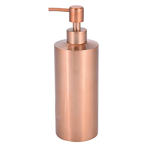raguso Acero Inoxidable Cocina Baño Encimera Bomba de Mano Dispensador de jabón líquido Botella de loción con Base Antideslizante para sostener lociones(550ML)