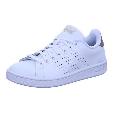 Adidas Advantage, Zapatos de Tenis Mujer, FTWR White/FTWR White/Copper Met, 35.5 EU