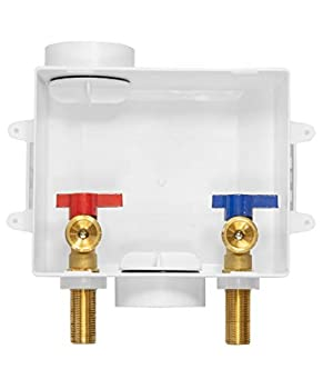 EFIELD Washing Machine Outlet Box with Center Drain ,1/2 inch x 3/4 inch MHT  1/2 -Inch Sweat Connection MIP  White
