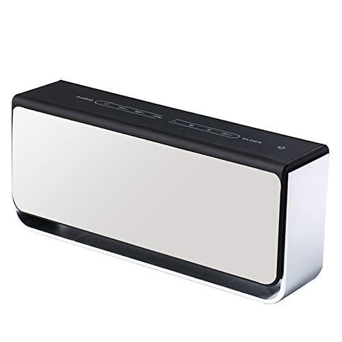 TSSM Wecker Bluetooth Lautsprecher Touchscreen Wireless kreative Mini tragbare Subwoofer Exquisite Erscheinung Smart Home Desktop-Party