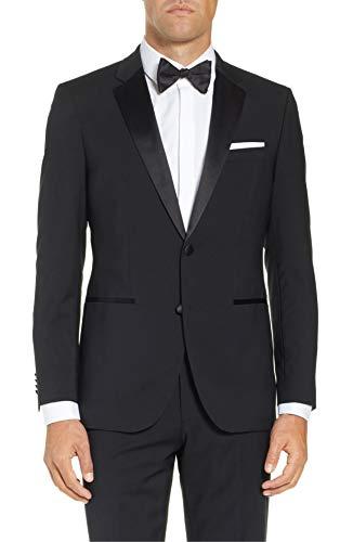 Boyland Mens 3 Piece Tuxedos One Button Wide Shawl Lapel Formal Suits Black Tie