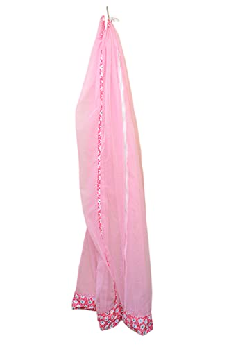 WonderNet Baby Mosquito Net Pink Color for Baby Jhula/Cradle