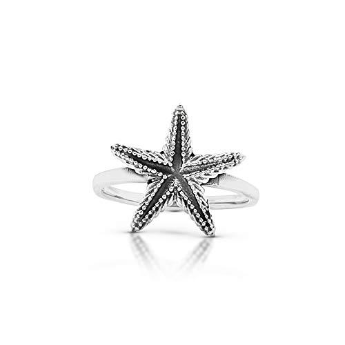 Starfish Ring 925 Sterling Silver Vintage Boho Chic Animal Sea Jewelry (6)