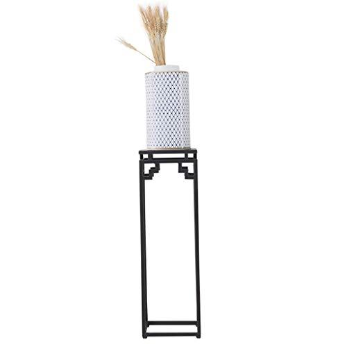 FANGQIAO Shop-Blumenständer Retro bodenständigen Blumenständer Eisen Artflower Stand Bonsai Display Regal Dekorrahmen Wohnzimmer Blumenständer-10.6 (Size : 60cm)
