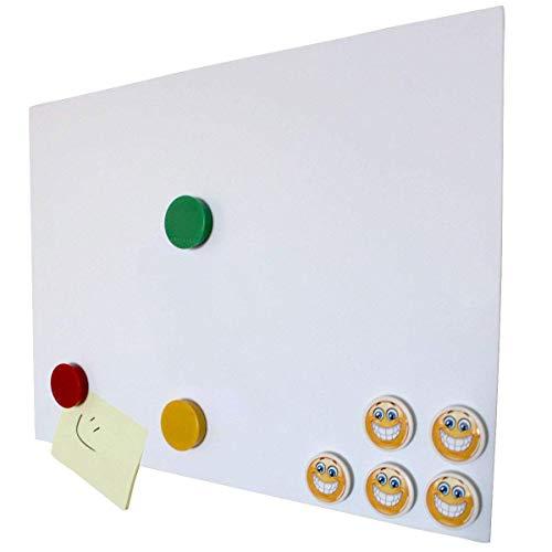 DIN A1 Ferrofolie selbstklebend Magstick® I Eisenhaltige Folie weiß beschichtet für Büro Präsentationen I DIY I Flexibler Haftgrund für Magnete I mag_229