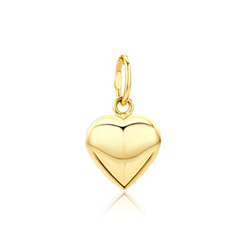 Orovi Damen Kettenanhänger Gelbgold, Herz-Anhänger 14 Karat (585) Gold