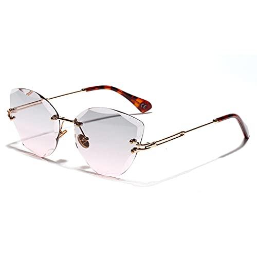 LUOXUEFEI Gafas De Sol Gafas De Sol Sin Montura Mujer Verano Gafas De Sol Sin Montura Mujer Negro Marrón Verano