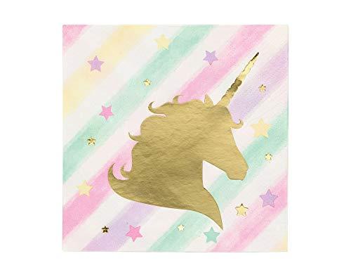 Unicorn Sparkle Party Vajilla para niños Servilletas pequeñas (16 unidades)