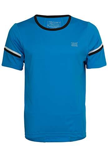 TAO Sportswear, T-Shirt Maillot de Course, léger Bleu pour Homme avec Haut respirabilité et optimalem l'humidité S Bleu Brillant/Noir