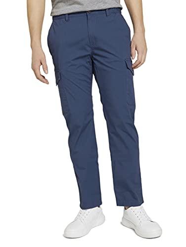 Tom Tailor 1025037 Travis Cargo Pantalones, 11043-Vintage Indigo Blue, L para Hombre