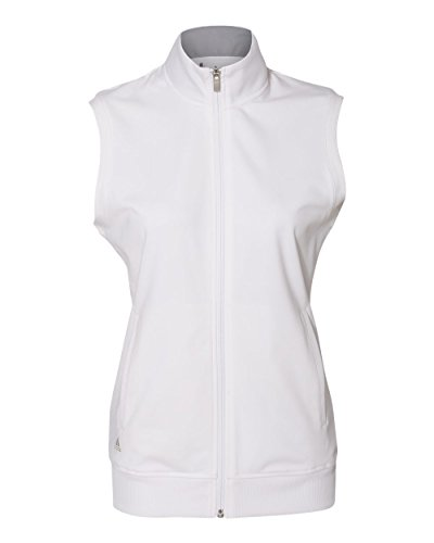 adidas Golf Womens Full-Zip Club Vest (A272) -White -S
