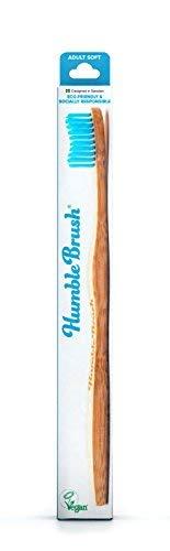 The Humble Co. Spazzolino da Denti di Bambù Blu   Setole Morbide   Biodegradabile, Ecologico, Vegan per la tua Cura Orale Quotidiana, Dentista Approvato (1 Pacco)