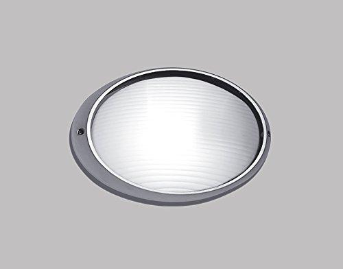 Lampada Applique Argento Per Esterni In Alluminio Con Vetro - Misure H.32Xl.20 Cm – 1Xe27 Max 60W. - Lampada Da Parete e soffitto Modello Perenz 4409A