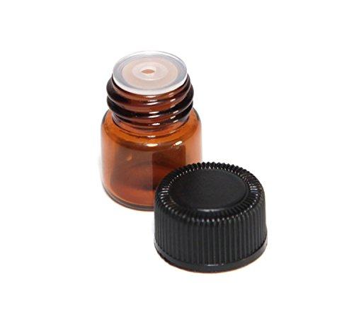 1ml Ámbar Cristal Botella De Aceite Esencial con orifice Reductor y tapa