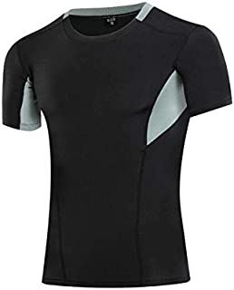 BEESCLOVER Men Sports T-Shirts Black White 6 Colors Breathable Plain Soft Comforta Bodybuilding Fitness Running T Shirts Tops Newest