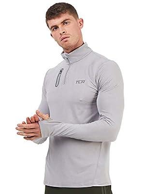 TCA Men's Fusion Pro QuickDry Long Sleeve Half-Zip Running Top