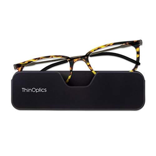 ThinOptics FrontPage Connect Rectangular Reading Glasses, Tortoise, 2