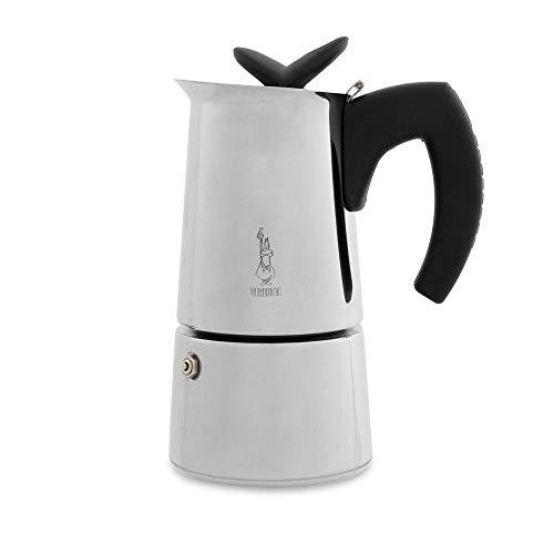 Bialetti Musa – Stove Top Restyling Espresso machine à café – Acier Inoxydable – Plusieurs tailles, Acier inoxydable, Silver, 6 Cups 210 watts