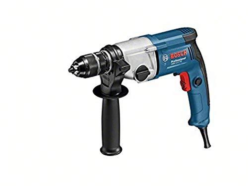Bosch Professional GBM 13-2 RE - Taladro sin percusión (750 W, 2 velocidades, Ø max perforación acero 13 mm, en caja), negro, azul, gris