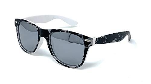 VENICE EYEWEAR OCCHIALI Gafas de sol Polarizadas para niño - protección 100% UV400 - Disponible en varios colores (Gris Camuflaje)