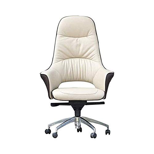 Drehbarer Arbeitsstuhl Moderner Stil Bürostühle Kunstleder Home Office Computer Schreibtischstuhl Beige Stühle