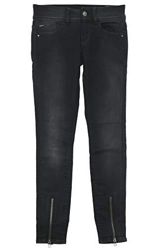 G-STAR RAW Damen Lynn Zip Grip Mid Waist Skinny Wmn Jeans, Schwarz (Dk Aged 89), 30W / 32L