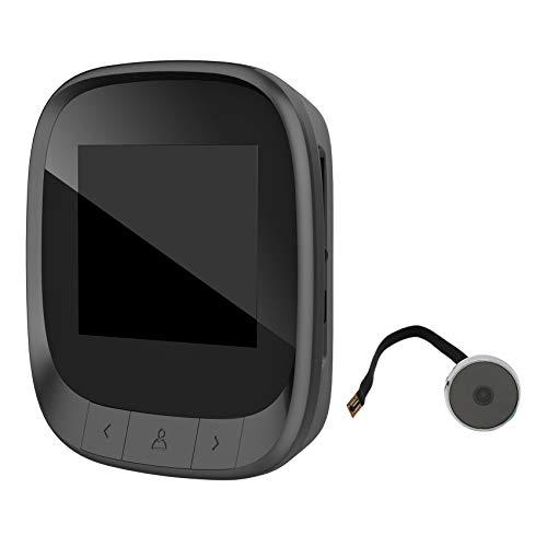 Haude 2.4 pulgadas cámara de la puerta digital mirilla Cámara WiFi HD Inicio visible video portero timbre cámara voz teléfono DD3S