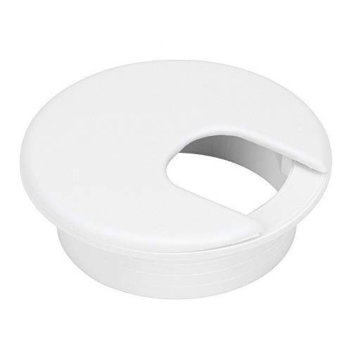 10 Pack 2 Inch White Desk Grommet for Wires Cords-Plastic