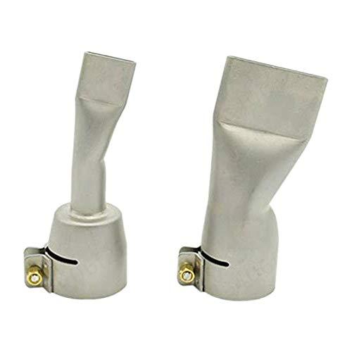 TRUUA 2PC Flach Weld-Düse, Schweißdüsen für Leister/Bak-Heißluft-Wärme 20 mm und 40 mm