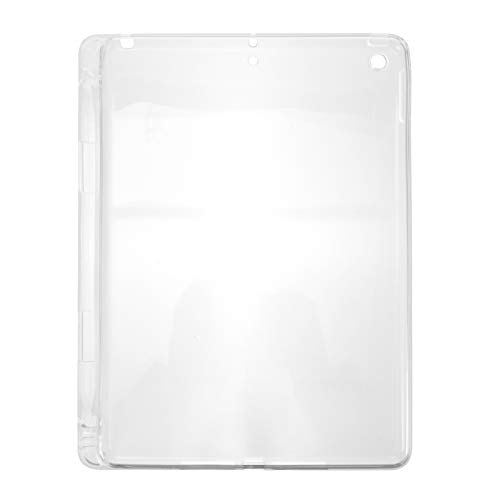 SOLUSTRE Case Cover for iPad 10.2 2019 2020 with Pencil Holder Silicone Clear Soft Shell Stand Cover for iPad 10.2 2019 2020 Protective Tablet Cover