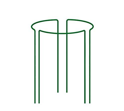 KADAX Pflanzenhalter, 3 Stück, Pflanzenstütze aus Stahl, halbrunde Rankhilfe für Pflanzen, Garten, wetterfester Blumenhalter, Staudenhalter, Strauchstütze, Blumenstütze, freistehend (Höhe: 60 cm)