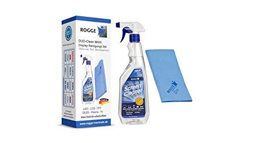 ROGGE Duo-Clean Maxi, 750ml Bildschirmreiniger inkl. 1 Microfasertuch 38x40cm.