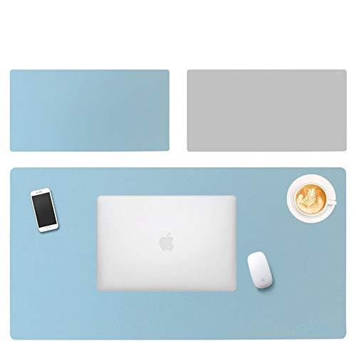 Alfombrilla protectora de escritorio, extragrande, impermeable, de piel sintética, para escritorio, para escritorio, para oficina y hogar, 31,5 x 15,7 '(40 cm x 80 cm), doble cara