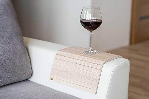 Bandeja de brazo de madera para sofá o sofá, con protectores de reposabrazos col1.