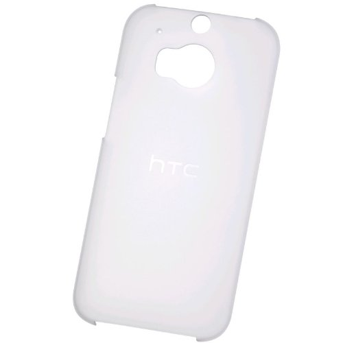 HTC HC C942 Transparent Hard Case Cover One M8 + Screen Protector