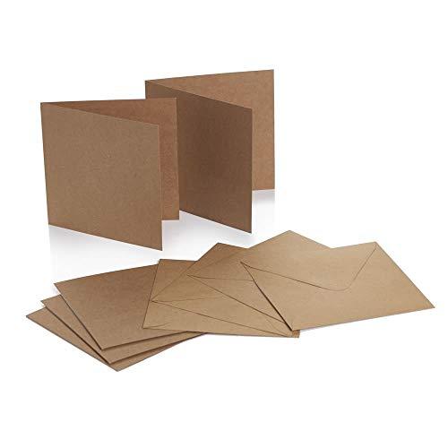 aus recyceltem Kraftpapier braun quadratisch (15,2x 15,2cm) Karten & Umschläge von Cranberry Card Company braun