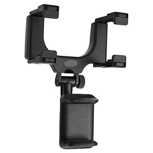 【】 Zwart voorkomt dat de telefoon valt, houder voor mobiele telefoon, houder voor achteruitkijkspiegel voor in de auto, voor maximaal 9 inch, achteruitkijkspiegel, achteruitkijkspiegel,