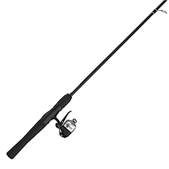 Zebco 33 Micro Trigger Spincast Reel and Fishing Rod Combo 5-Foot 2-Piece Rod with Comfortable EVA Handle Quickset Anti-Reverse Fishing Reel with Bite Alert Silver/Black