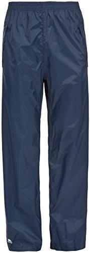 Trespass Packup Trouser, Navy, XL, Kompakt Zusammenrollbare Wasserdichte Regenhose mit 3 Taschenöffnungen für Damen und Herren / Unisex, X-Large, Blau